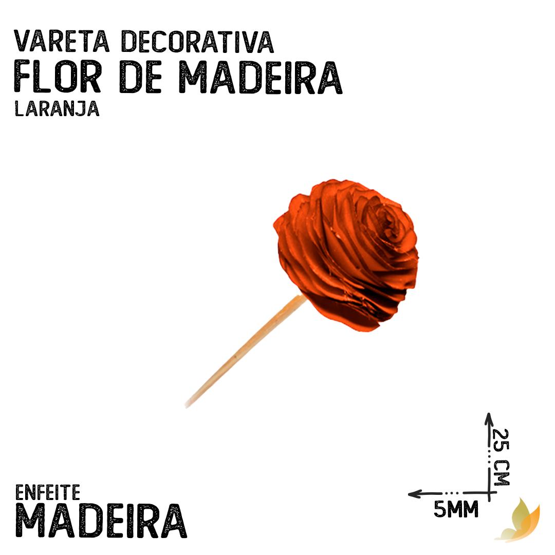 VARETA DECORATIVA FLOR DE MADEIRA LARANJA