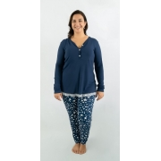 Pijama longo de amamentar - Estrelas