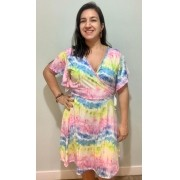 Vestido de amamentação Tie Dye
