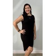 Vestido de amamentar assimétrico - Preto, marinho e cinza