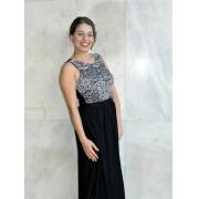 Vestido de amamentar longo Black Lace