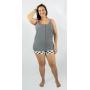 Pijama de amamentação curto MaxiPoá