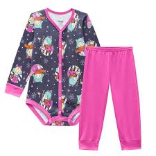 Conjunto de pijamas mãe e bebê
