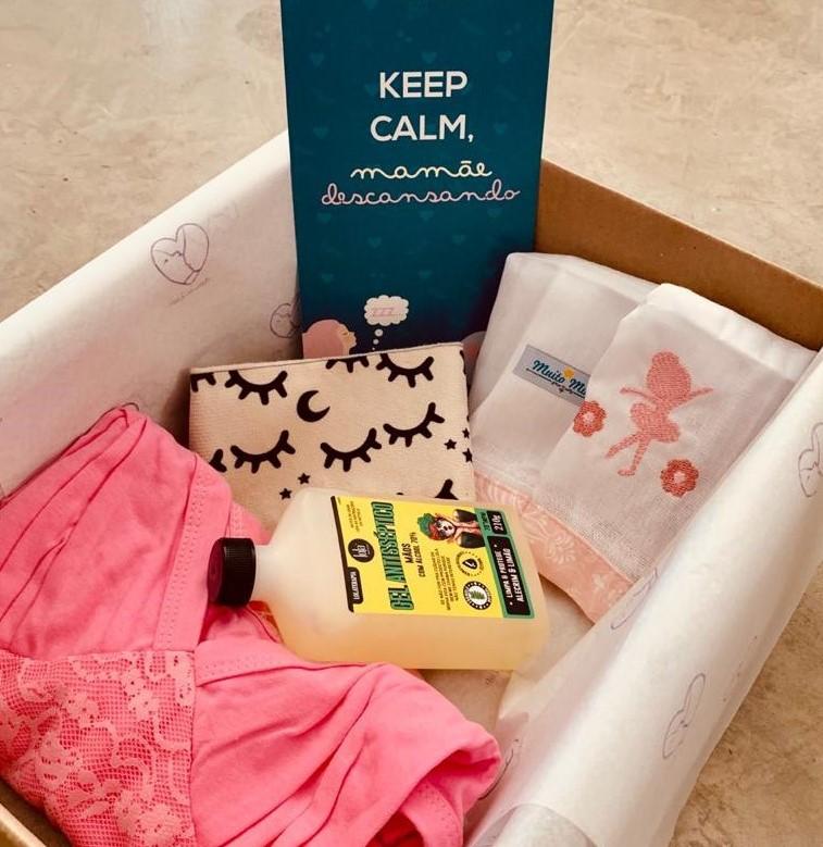 Kit cuidados para mãe e bebê