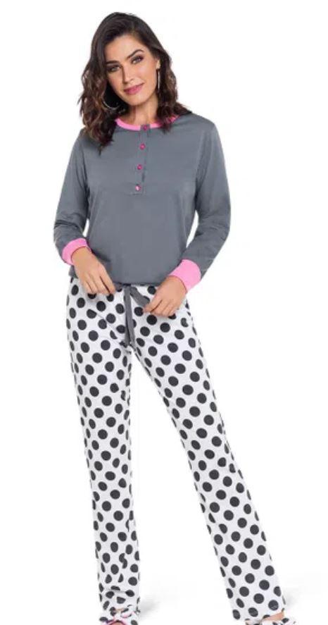 Pijama de amamentação longo MaxiPoá