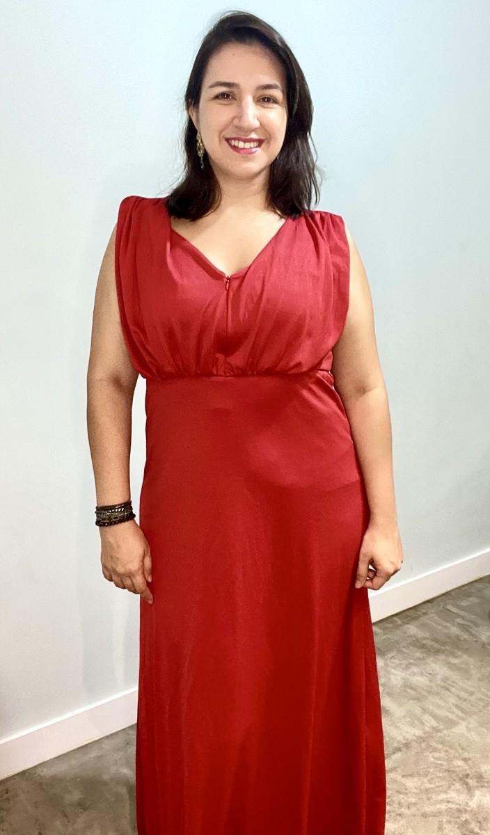 Vestido de amamentar longo Cherry Diva