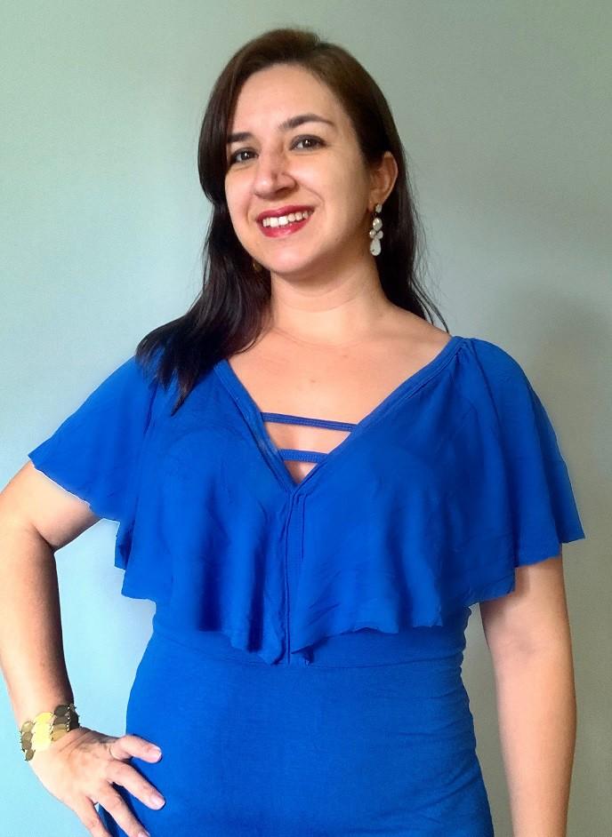 Vestido de amamentar midi Blue Strips