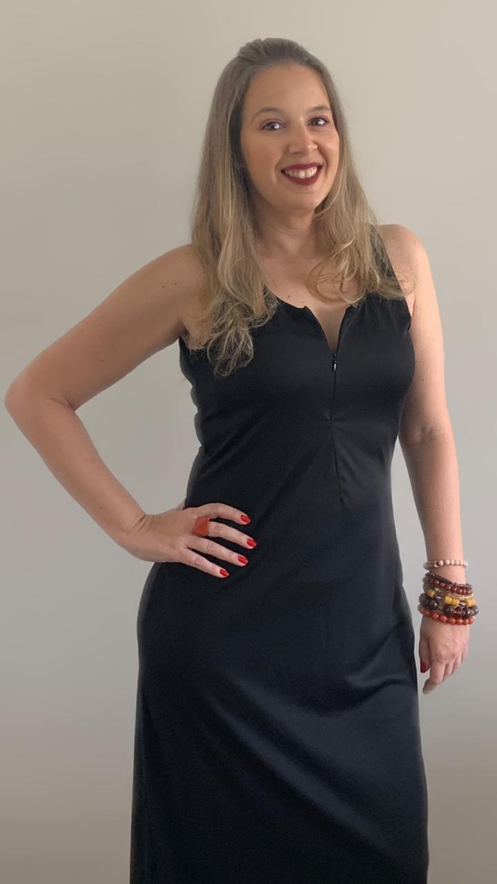 Vestido longo Black Venus