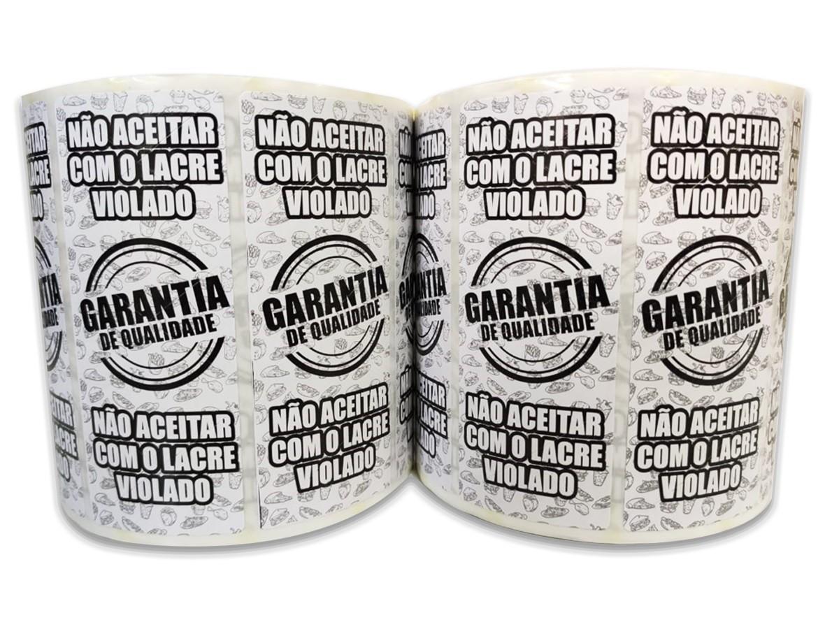 Etiqueta Adesiva Lacre Destrutível - Garantia de Qualidade