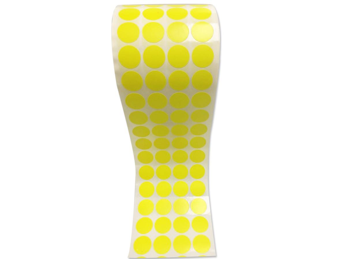 Etiqueta Bolinha Adesiva Amarela