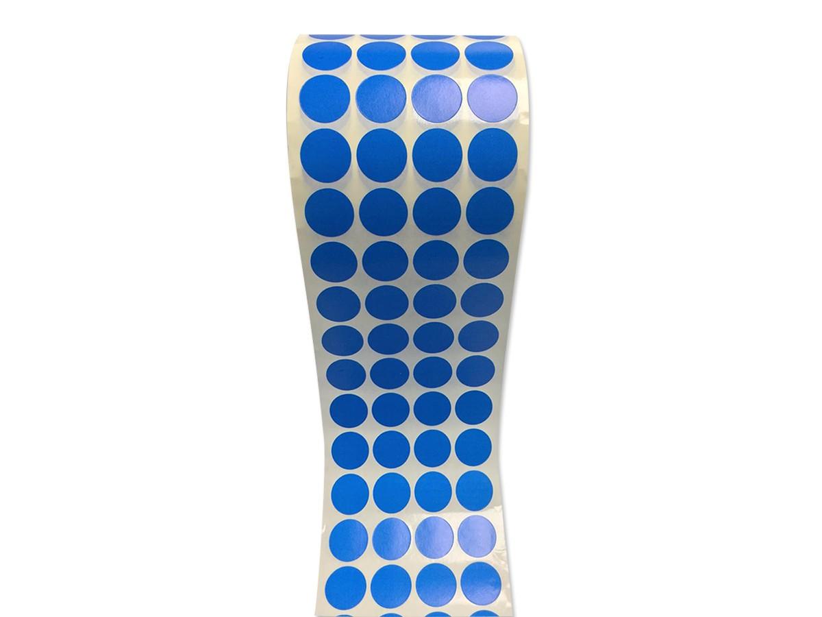 Etiqueta Bolinha Adesiva Azul