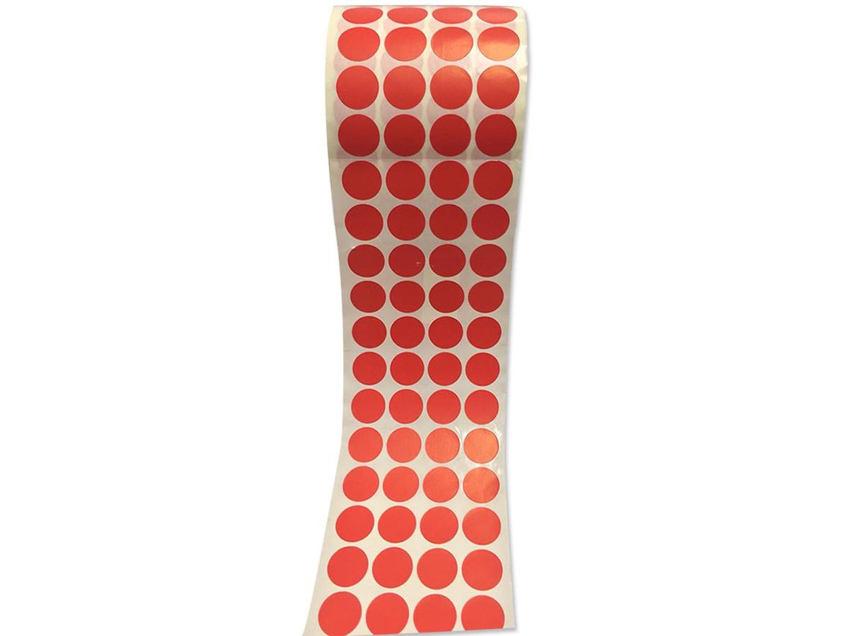Etiqueta Bolinha Adesiva Vermelha