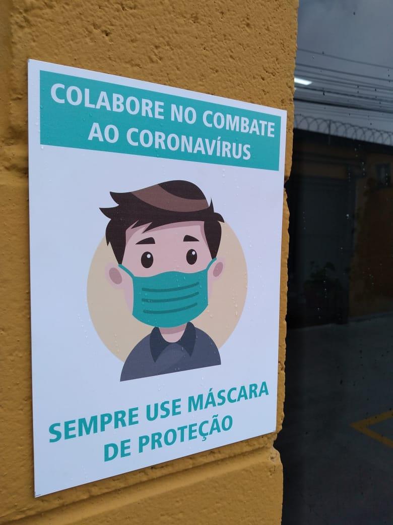 Placa Use Máscara de Proteção