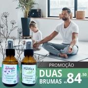 Promoção Bruma PURIFICA Spray Ambiente Olin Cosméticos Botânicos - 100ml + LAVANDA ZEN Bruma Spray Ambiente e Corporal Yoga Time Olin Cosméticos Botânicos - 100 ml