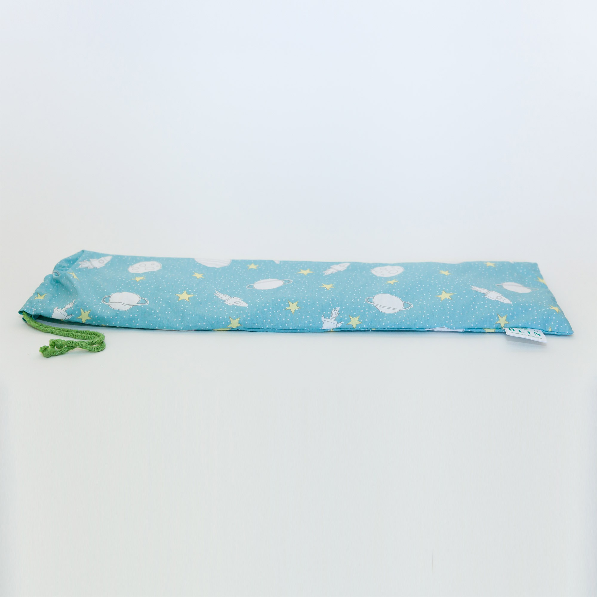 Calm Kids Almofada Térmica Natural Foguete Azul Claro - Tamanho M