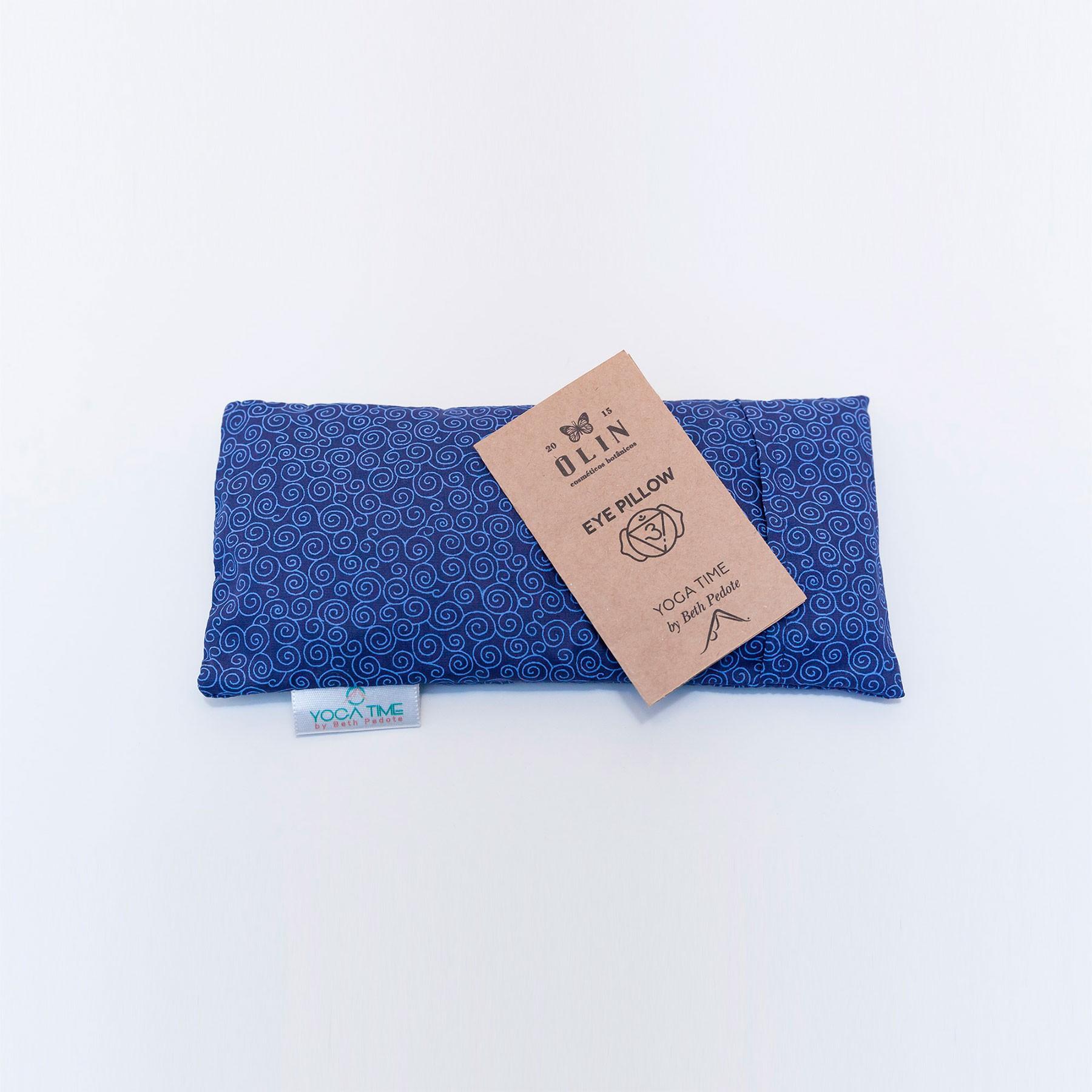 Eye Pillow Almofada Térmica Azul Anil Caracois | Beth Pedote