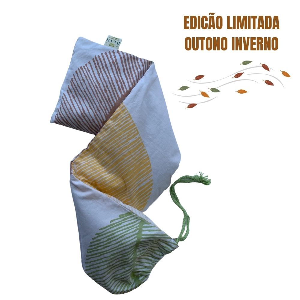 Kit 2.  Dia das Mães Sentidos:  Relax Time Almofada Térmica OUTONO M + Bruma Lavanda Zen + Ecobag algodão