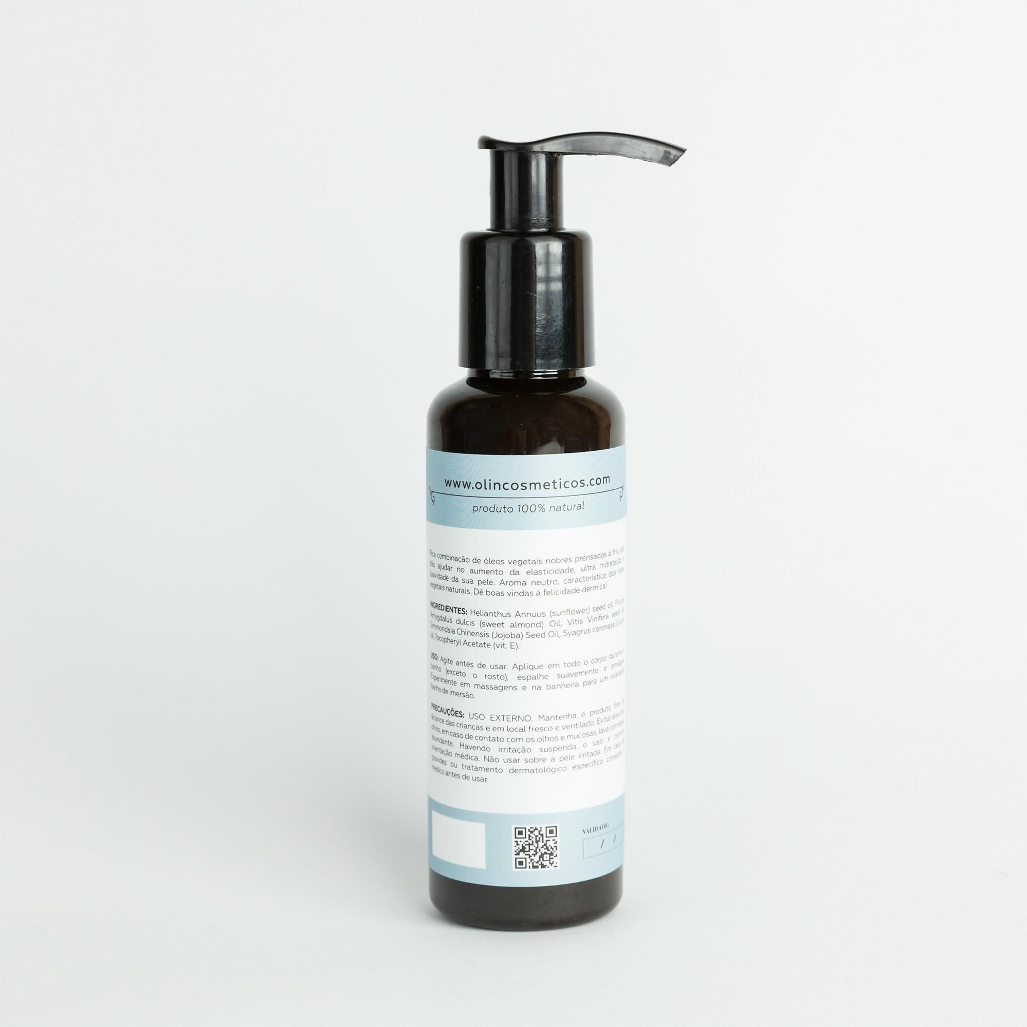 Óleo Corporal NEUTRO de Banho e Massagem Olin Cosméticos Botânicos- 120ml
