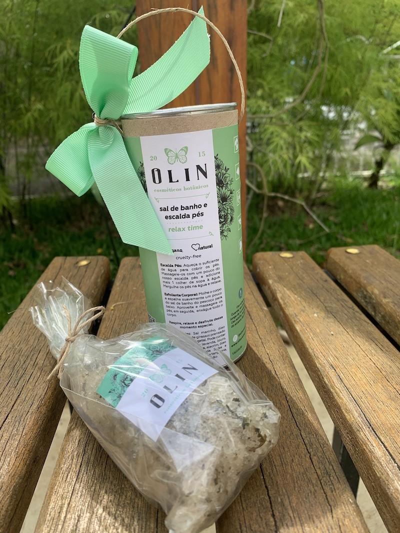Sal de Banho & Escalda Pés Relax Time Olin Cosméticos Botânicos 170 g