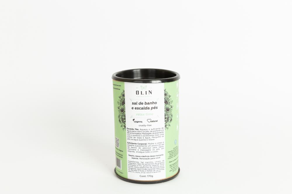 Sal de Banho  Escalda Pés Relax Time Olin Cosméticos Botânicos 170 g