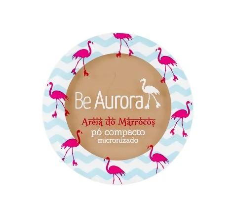 Be Aurora Pó Compacto Micronizado Areia do Marrocos Marrom Claro Nº 04
