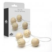 Ben-wa - Conjunto 4 bolas pompoar - Marfim