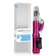 Vibrador Rotativo Jack Rabbit (Recarregavel)- Rotativo - Rosa Cromado - Elefante