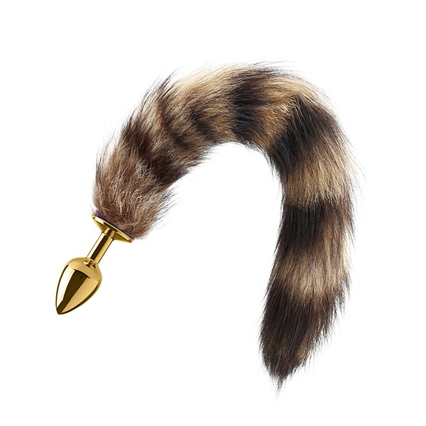 Lust Metal - Plug Anal Raccoon Tail Gold