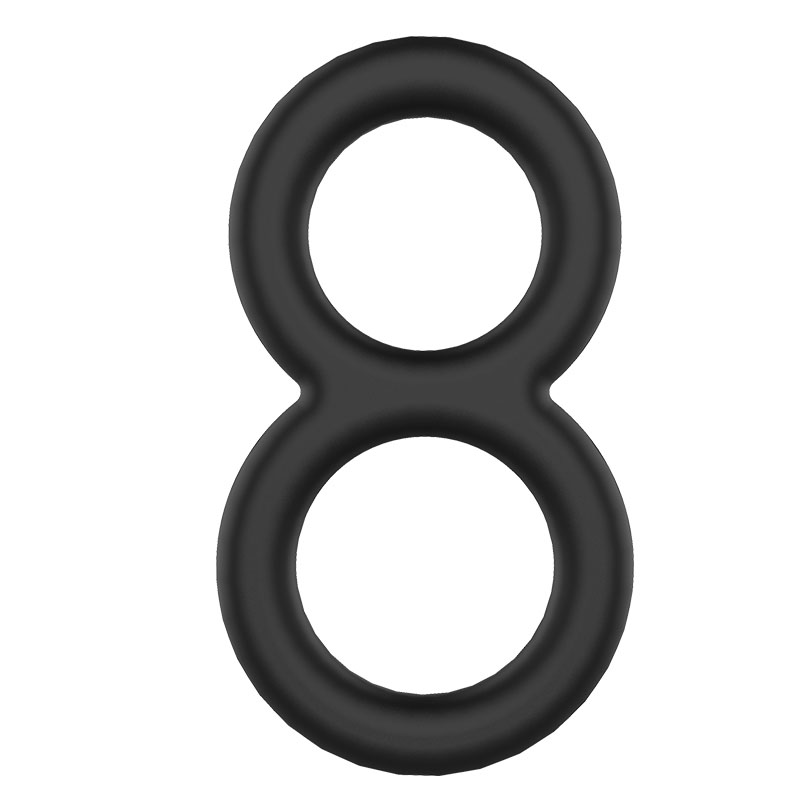 MAGIC COCK RING - Kit com 3 anéis para estrangulamento testicular - Black