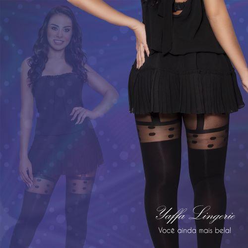 Meia Calça Fashion com Estampa em Bolas Yaffa