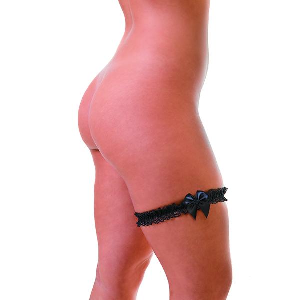 Tiara de perna com Laço Preto
