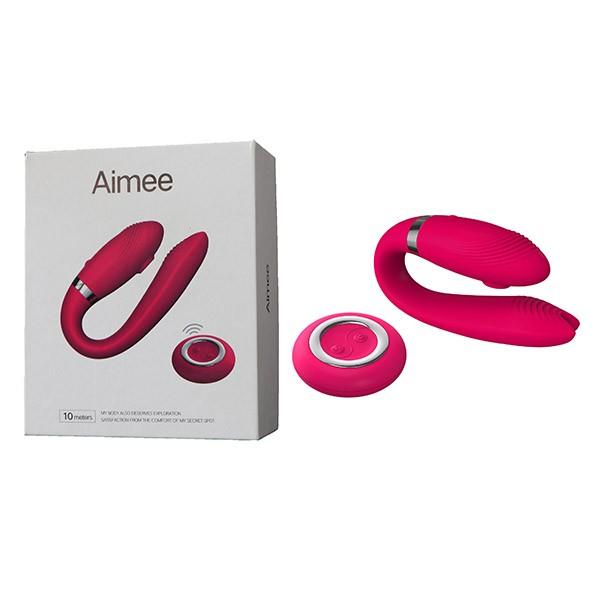 Vibrador Sugador com controle wireless recarregável USB - AIMEE