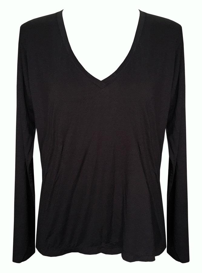blusa ampla preta