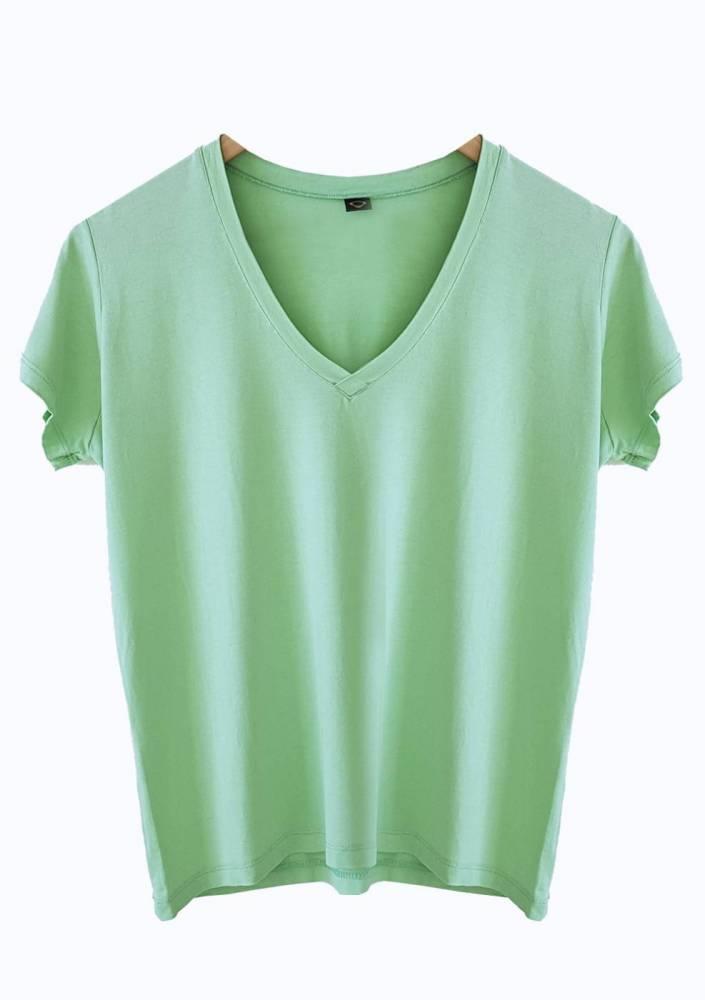 Camiseta Ampla Menta