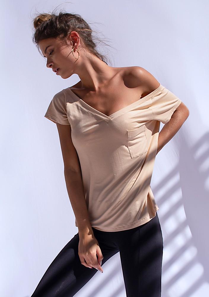 Camiseta Bolso Nude