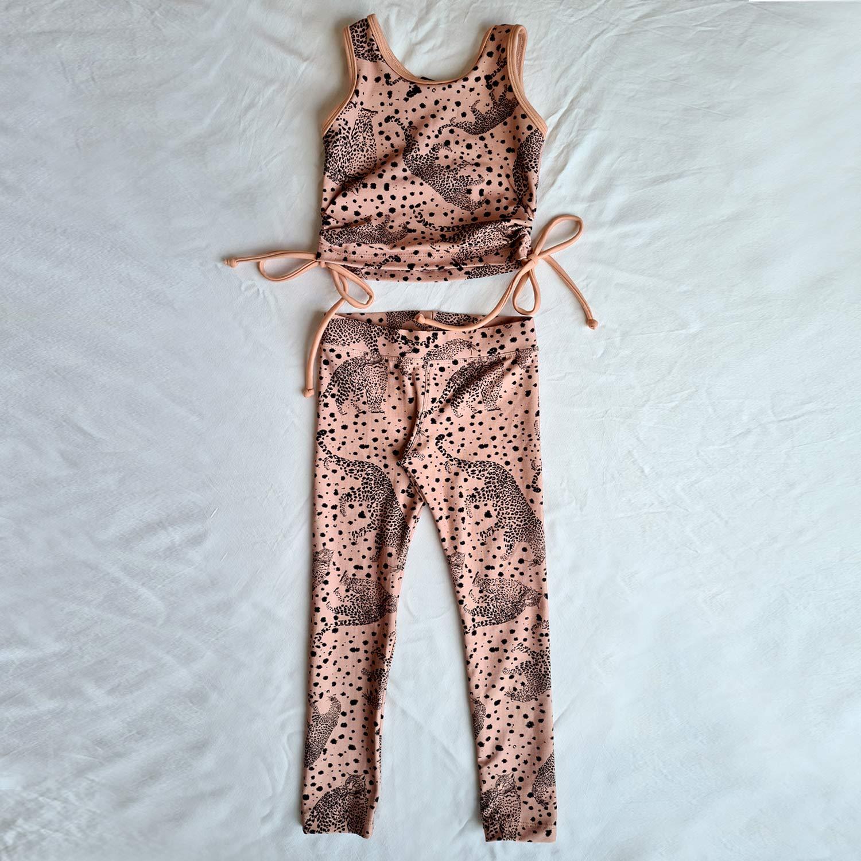 Conjunto Infantil Leopard Rosê