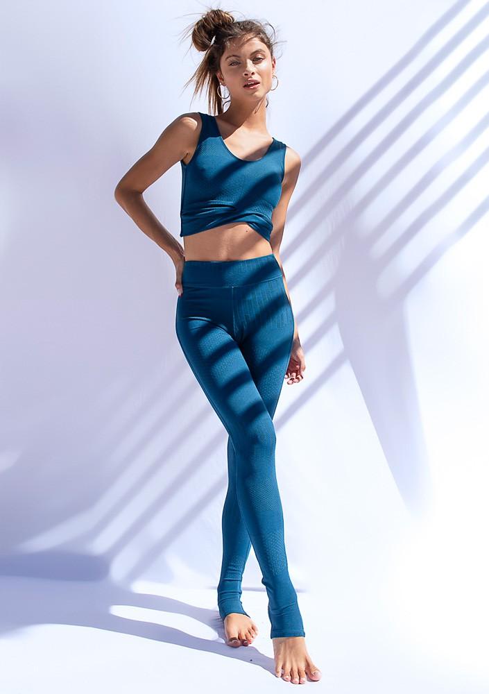 Legging Pezinho Azul Petróleo