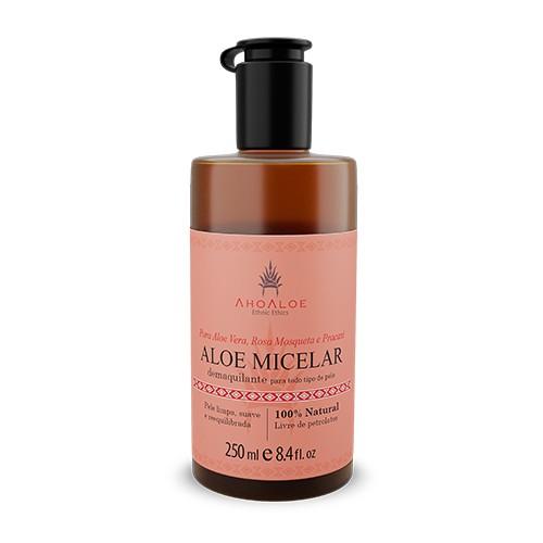 Demaquilante Vegano e Natural Aloe Micelar com Rosa Mosqueta e Pracaxi 250ml – Ahoaloe