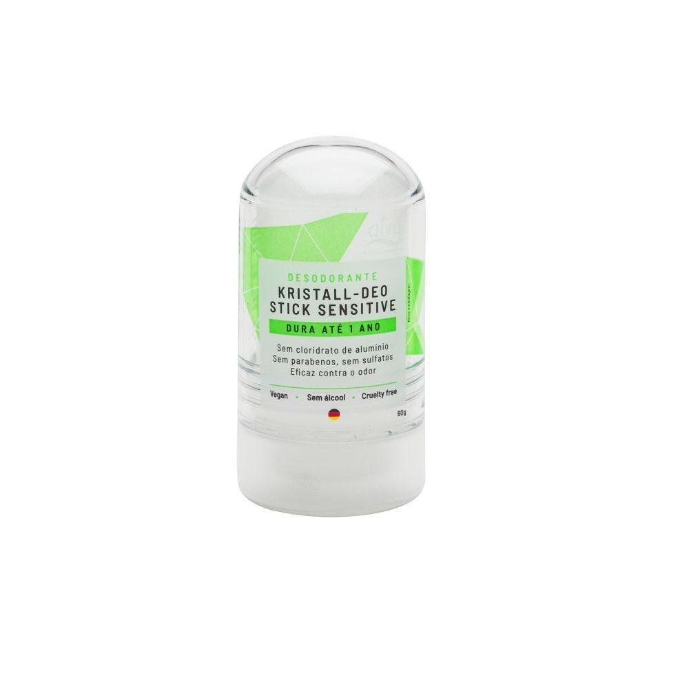 Desodorante Stick mini Kristall Sensitive Alva - 60g
