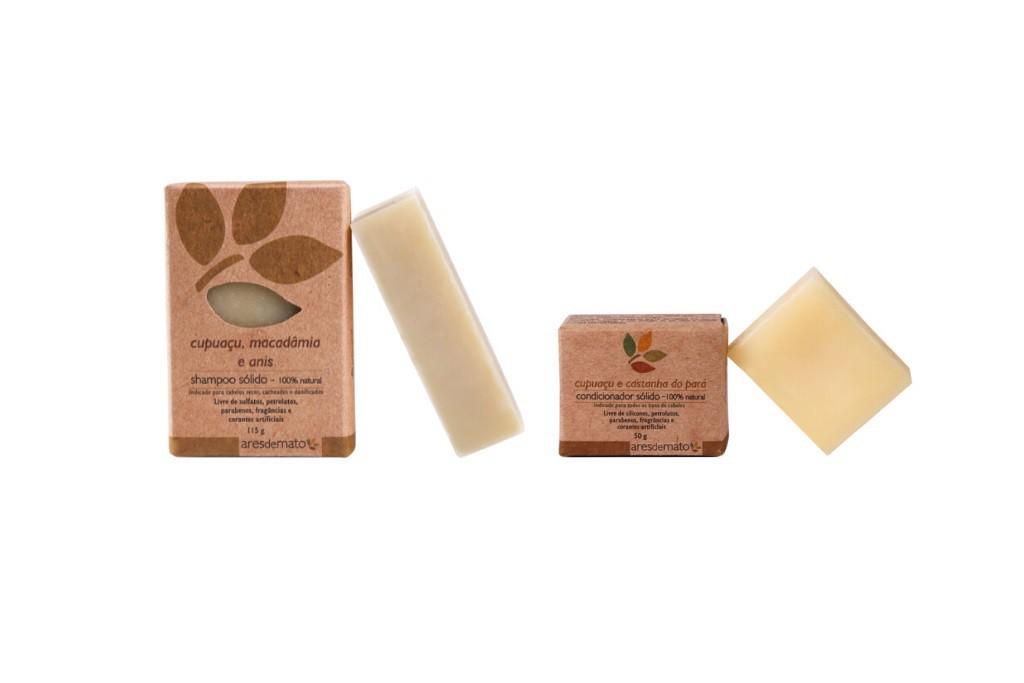Kit Cabelos Cacheados ou Secos - Shampoo e Condicionador em Barra