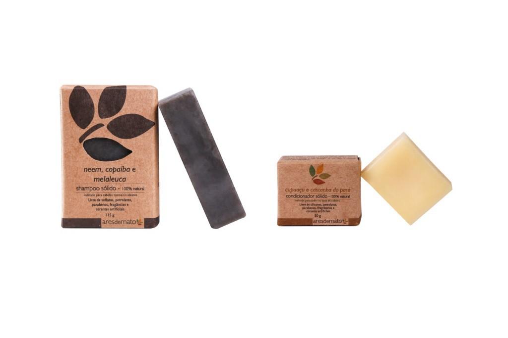 Kit Cabelos Normais a Oleosos - Shampoo e Condicionador em Barra