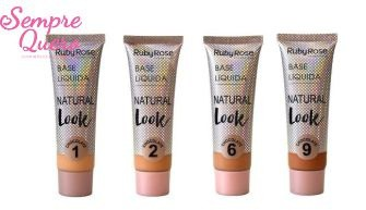 BASE LIQUIDA NATURAL LOOK CHOCOLATE- RUBY ROSE