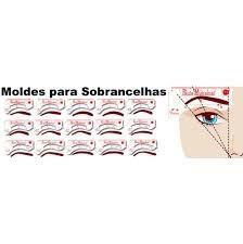 MOLDES PARA DESIGIN DE SOBRANCELHAS - NOVA ESTÉTICA 12MOLDES