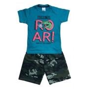 Kit 04 Conjunto Masculino Camiseta Malha E Bermuda Moletom