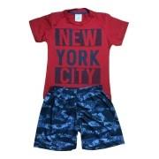 Kit 4 Conjunto Masculino Camiseta Malha E Bermuda