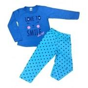 Kit 4 Pijamas Divertidos Menina Camiseta Manga Longa E Calça
