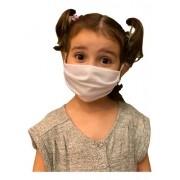 Kit C/03 Máscaras Infantil Camada Dupla Algodão Reutilizável