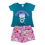 Kit Lote 4 Conjuntos Blusa e Shorts