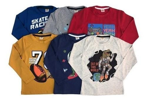 Kit 20 Camisetas Manga Longa