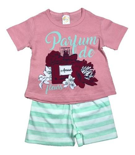 Kit 4 Pijamas Divertidos Menina Blusinha E Short - Compre Já